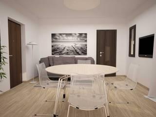 TRILOCALE SANTO STEFANO: Soggiorno in stile  di LAB16 architettura&design, Minimalista