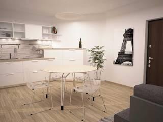 TRILOCALE SANTO STEFANO Cucina minimalista di LAB16 architettura&design Minimalista