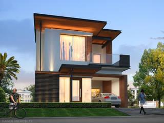 Modern House at Adarsh Nagar, Jalandhar by Gagan Architects