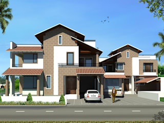 Duo Houses in Mexican Style at Jalandhar by Gagan Architects