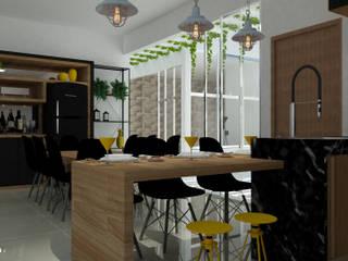 Residência HW: Cozinhas  por GialloTre - Arquitetura Criativa,Moderno