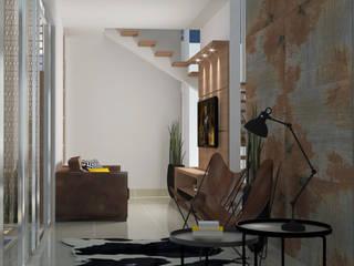 Living e Sala de TV: Salas multimídia  por GialloTre - Arquitetura Criativa