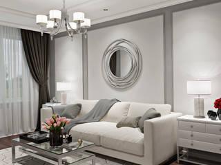 Дизайн двухкомнатной квартиры в стиле неоклассика: Гостиная в . Автор – GM-interior