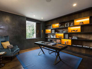 Hampstead Home, Bold & Bright Modern Study Room and Home Office by Studio Mark Ruthven Modern