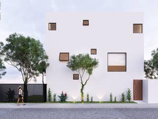 CASA CUEVAS | Playa del Carmen Q. Roo: Casas de estilo  por EMERGENTE | Arquitectura, Minimalista