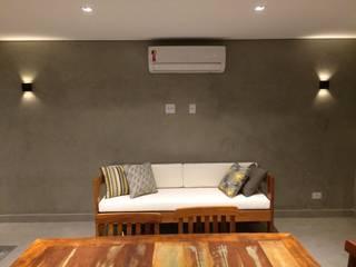 Área de churrasqueira A e F Paredes e pisos modernos por Arquitetura CR Moderno