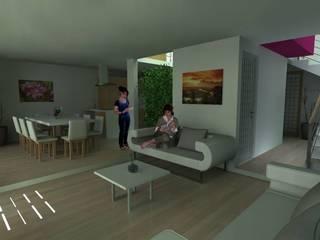 Casa Las Peñas 463 Salones modernos de Lobato Arquitectura Moderno