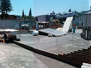VISTA GENERAL DE LA AZOTEA : Espacios comerciales de estilo  por Novhus Oficina de Arquitectura