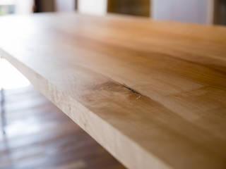 無垢 アイアン ダイニングテーブル: SSD建築士事務所株式会社が手掛けた現代のです。,モダン