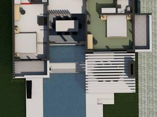 LEYLA ERCAN MİMARLIK – 1. Kat Planı:  tarz Yatak Odası