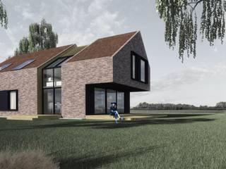 Dom BrIcK: styl , w kategorii Domy zaprojektowany przez ZA-ARCHITEKT