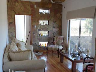 Vivienda L52 Fundo Loreto, La Serena. Livings de estilo mediterráneo de Territorio Arquitectura y Construccion - La Serena Mediterráneo