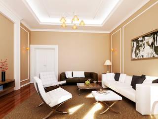 STRASZEWSKIEGO 10 M.2 Klasyczny salon od Studio3Design Klasyczny