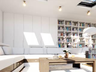 STRASZEWSKIEGO 10 M.1 Nowoczesny salon od Studio3Design Nowoczesny