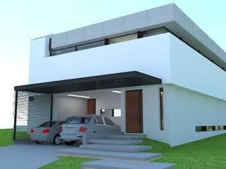 Vista de acceso a la vivienda: Casas de estilo moderno por ARQUIGRAF YB