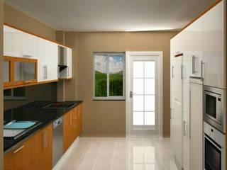 現代廚房設計點子、靈感&圖片 根據 Dekoroba İç Mimari & Dekorasyon 現代風
