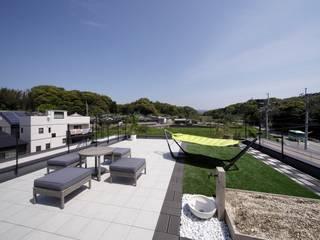 新宮の家: 株式会社 SYN空間計画 一級建築事務所が手掛けたバルコニー&ベランダ&テラスです。
