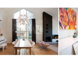 Bosvilla Rosmalen:  Woonkamer door Studio'OW Interieurontwerp