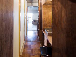 吉田裕一建築設計事務所 Baños de estilo escandinavo Cobre/Bronce/Latón Acabado en madera