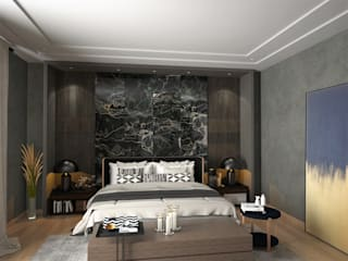 Murat Aksel Architecture Modern style bedroom Marble Wood effect