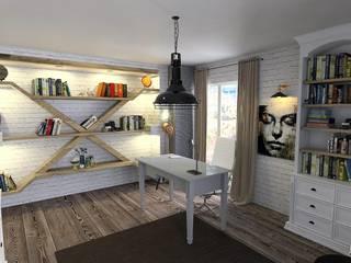 Murat Aksel Architecture Oficinas de estilo rural Madera Acabado en madera