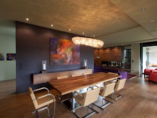 Artica crystal chandelier in Forest Hill Villa in Budapest Manooi Dining roomLighting Multicolored