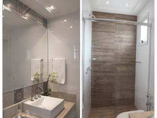 Suelen Kuss Arquitetura e Interiores Baños de estilo moderno Madera Beige