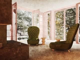 Laube, Wintergarten, Stube, Wohnzimmer: moderne Wohnzimmer von Lando Rossmaier Architekten AG