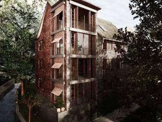 Laterne: moderne Häuser von Lando Rossmaier Architekten AG