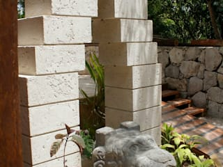 Rustic style garden by FRACTAL CORP Arquitectura Rustic