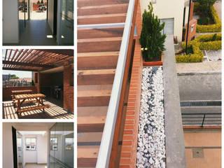 Diseño y Construcción Area Social Reserva de Mallorca Et. I Balcones y terrazas de estilo rústico de INblatt _Arquitectura Rústico