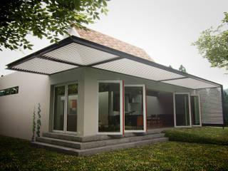 Ampliación casa habitación Hoffmann: Casas de estilo  por rochen