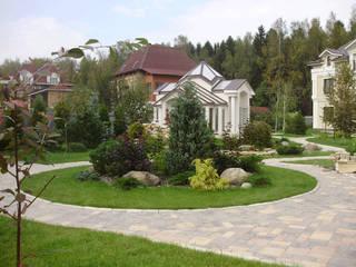 Декоративная растительная группа: Дома в . Автор – Цветущий сад