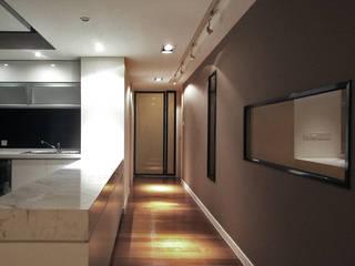 Corridor & hallway by 直譯空間設計有限公司