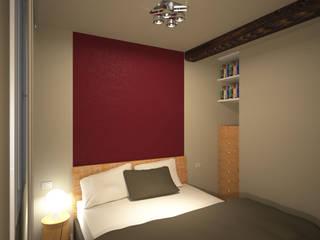 ห้องนอน โดย GMV Graph - Studio Tecnico di geom. Marco Luca Villa, โมเดิร์น