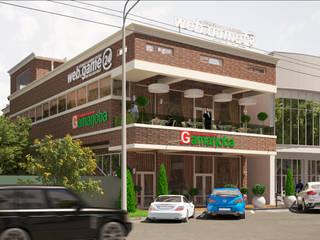 Визуализация ресторанного комплекса Бары и клубы в стиле лофт от Москоу Дизайн Лофт