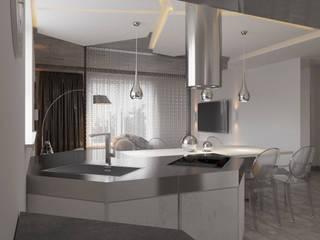 Футуристичный минимализм. Квартира 120м2 Гостиная в стиле минимализм от PRO-DESIGN Минимализм