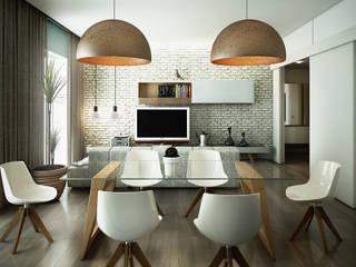 Casa PISI Sala da pranzo in stile industriale di rendering4you Industrial
