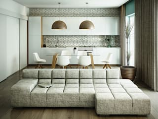 Casa PISI Cucina in stile industriale di rendering4you Industrial