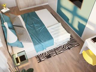 Современный дизайн. Квартира 68м2 Спальня в скандинавском стиле от PRO-DESIGN Скандинавский