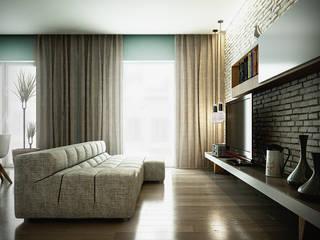 Casa PISI Sala multimediale in stile industriale di rendering4you Industrial
