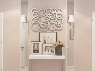 Из двухкомнатной квартиры сделали трехкомнатную и кабинет-гостевая! Коридор, прихожая и лестница в эклектичном стиле от 'PRimeART' Эклектичный