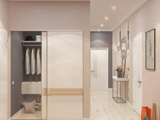 'PRimeART' Eclectic style corridor, hallway & stairs Beige