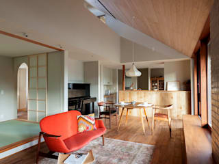 HOUSE IN CHIYOGAOKA Mimasis Design/ミメイシス デザイン Modern Living Room Wood Wood effect