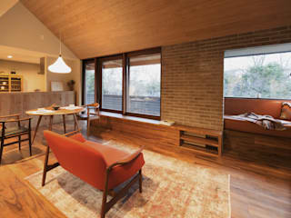HOUSE IN CHIYOGAOKA Mimasis Design/ミメイシス デザイン Living room Wood Wood effect