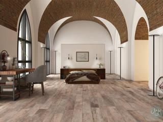 Gres effetto legno by Paul&Co Ceramiche: Pareti & Pavimenti in stile  di MK Designer Studio   Project & 3D ArchViz