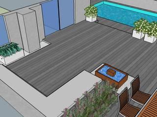 Proyecto jardín con piscina: Jardines de estilo  de La Patioteca