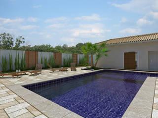 Residência : Piscinas  por Aline Santa Rosa | Arquitetura e Interiores,