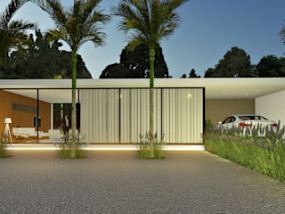 Lopes e Theisen Arquitetura Minimalist houses Concrete White