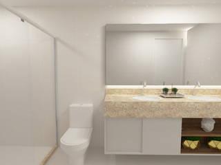 Casa DC Banheiros minimalistas por Cartibani Arquitetura Minimalista